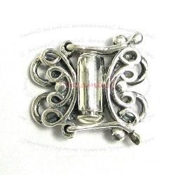 1x Bali Sterling Silver Butterfly 2 strand Pearl Box Clasp