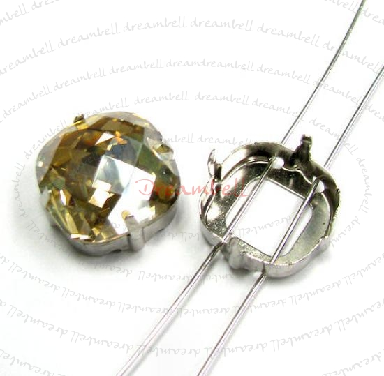 6x Swarovski Crystal 4461 4 Hole Sew on Setting 16mm