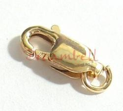 1X 14k gold filled LOBSTER CLASP BEAD OPEN JUMP RING  10mm