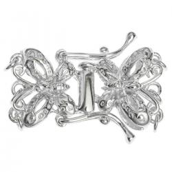 1 x Sterling Silver Butterfly 3-strand clasp 23mm