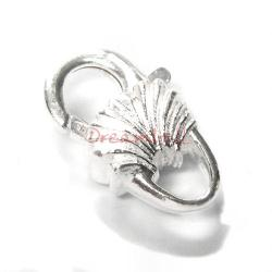 STERLING SILVER SHELL LOBSTER CLASP LOCK Trigger BEAD 18mm HEAVY