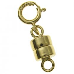 1x 14k Gold Filled 4mm Magnetic Clasp Converter for Necklaces w/ 5mm Spring Ring Clasp