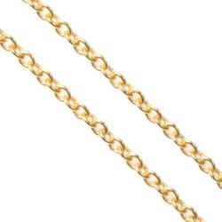 "12"" 14k Gold Filled Oval Ring Rolo Footage Chain 1.2mm"