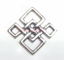 1x Sterling SILVER Chinese Knot Square Chandelier Connector 15mm