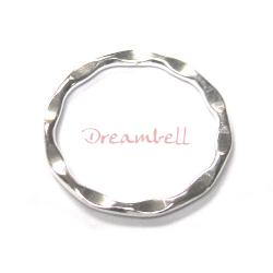 1 x Sterling Silver Round Wave Hoop Jump Ring Connector 18MM