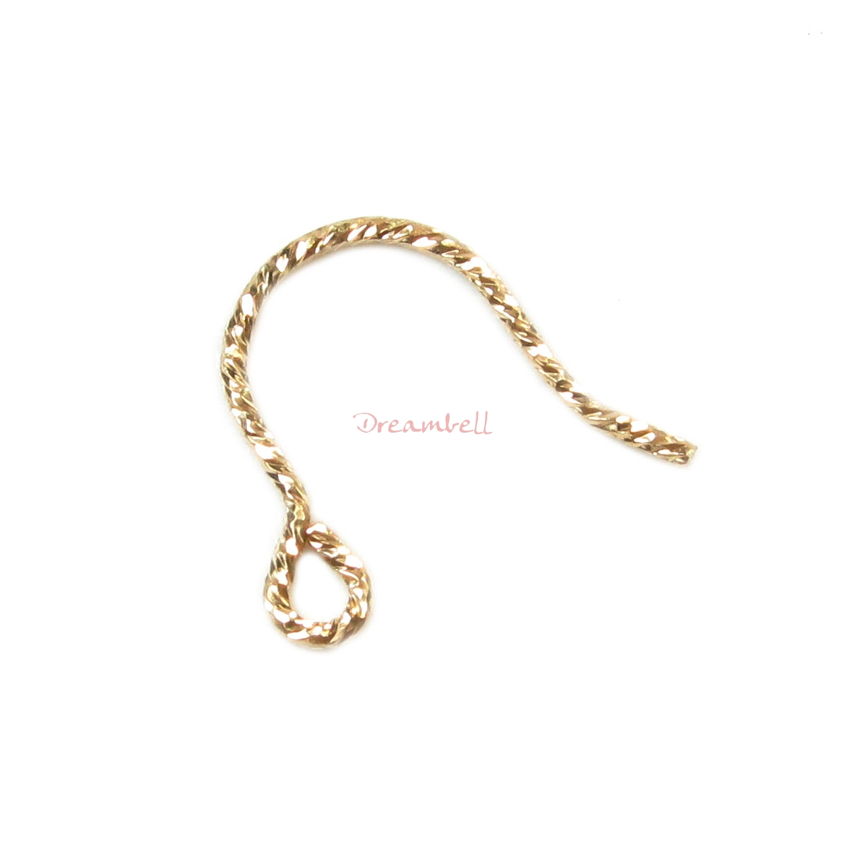 4pcs 14k Gold Filled Sparkle Ear Wire French Hook Earwires
