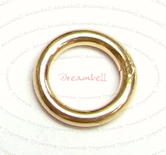 6x 14K Gold Filled Closed Soldered Jump Rings 6mm 18gauge Wire