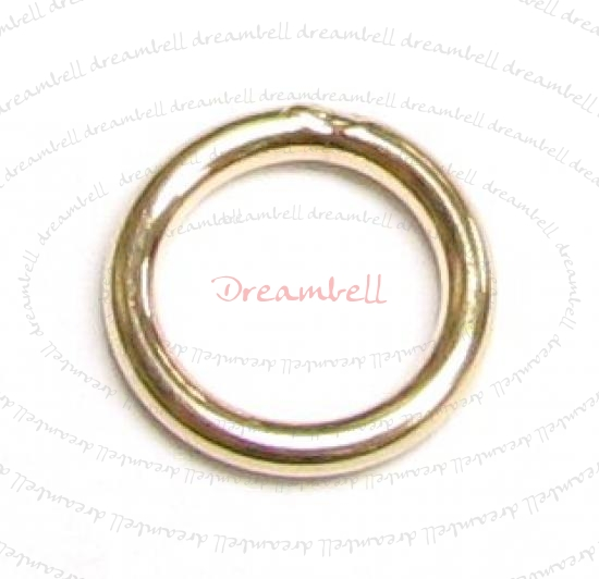 6x 14K Gold Filled Closed Soldered Jump Rings 7mm 18gauge Wire