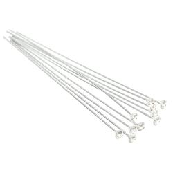 10 Ster Silver Head Pin CZ Crystal Stone Headpins 24ga Clear 40mm