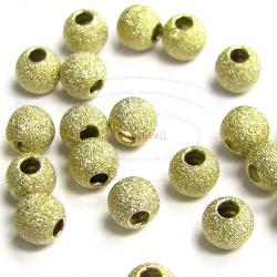 10x 14k Gold Filled Stardust Bead Round 3mm