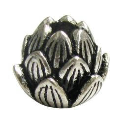 1x Bali Sterling Silver Lotus Flower Bud Focal Spacer Bead 8.5mm