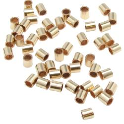 50x 14k gold filled CRIMP BEADS 2x2mm Tube 2mm