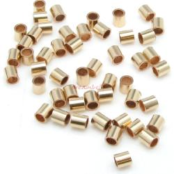100x 14k gold filled CRIMP BEADS 1.1x1mm Tube 1mm
