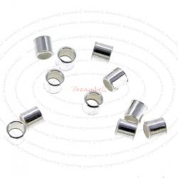 55x Sterling Silver Crimp Tube Bead Spacer 1.5mm x 2mm