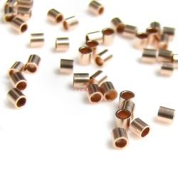 50x 14k Rose Gold Filled 2mm Crimp Tube Beads 2x2mm