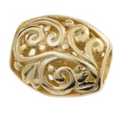 1x  14K Gold plated over Sterling Silver Flower Focal bead 16mm