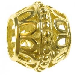 14K Real Gold Plated 925 Sterling  Silver for European Charm Bracelets bead 9.2mm