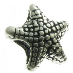 Sterling Silver Star Fish Bead 14mm for European Charm Bracelets