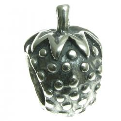 antique sterling silver Strawberry Bead for European Charm Bracelets