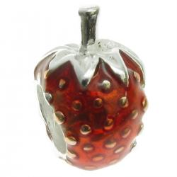 sterling silver Strawberry for European Charm Bracelets bead