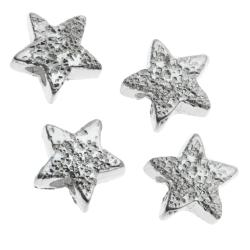 8x STERLING SILVER STARDUST LITTLE TWINKLE STAR BEAD CONNECTOR SPACER 5MM
