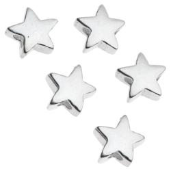8x Bright STERLING SILVER LITTLE TWINKLE STAR BEAD CONNECTOR SPACER 5MM
