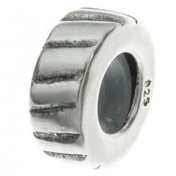 Bali Sterling Silver STOPPER WITH RUBBER Twisted Round Bead for European Charm Bracelets