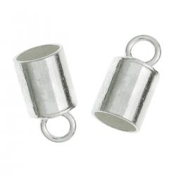10 pcs  STERLING SILVER End Caps For 4mm LEATHER Bead Cord
