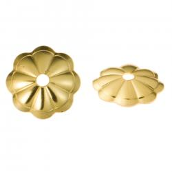 10x 14k Gold Filled Flower Cap Bead Cover 6mm