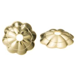 10x 14k Gold Filled Flower Caps Bead Cover 4mm