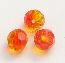 6 Swarovski Crystal Elements Round Faceted 5000 Fire Opal 8mm