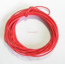 5 YARDS WAXED COTTON BEAD STRINGING CORD 1MM Red