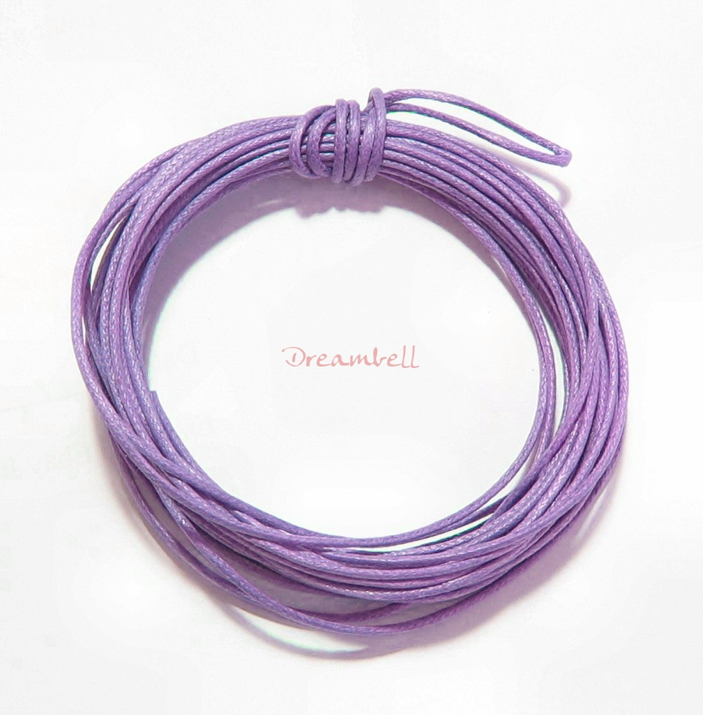 5 YARDS WAXED COTTON BEAD STRINGING CORD 1MM Violet