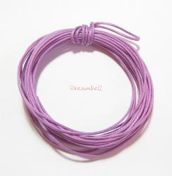 5 Yards Waxed Cotton Bead Stringing Cord 2mm Light Purple
