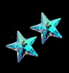 1x Swarovski Elements Crystal Star Clear Pendant 8815 AB 20mm