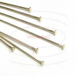 10x 14K Gold Filled Headpins Head pins 26ga 1""