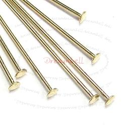 10x 14K Gold Filled Headpins Head pins 22ga 1""