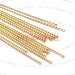 10x 14K Gold Filled Headpins 1.5mm DOMED Head pins 24ga 1.5""