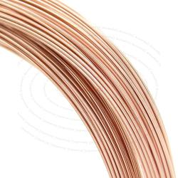 5ft Fine 14k Rose Gold Filled Round Wire 24ga (0.5mm) Half Hard