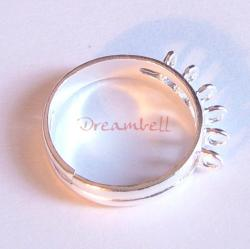 1 x BRIGHT STERLING SILVER Ring Case (6 holes)