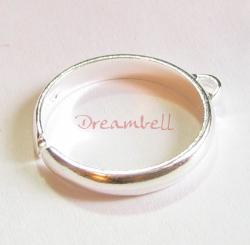 1 x BRIGHT 925 STERLING SILVER Ring Case (1 hole)