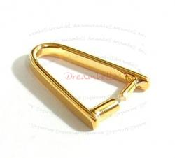 1x 14K Real Gold Silver Pendant Connector Bail Clasp 14.3mm