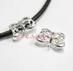 1x STERLING SILVER BAIL FLOWER SLIDE PENDANT CONNECTOR