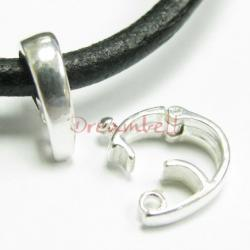 1 x BRIGHT STERLING SILVER CHANGEABLE PENDANT CLASP BAIL SLIDE