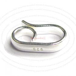 2x STERLING SILVER Simplicity Hook Bead CLASP 1 2mm
