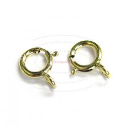 5x 14k Gold Filled Spring Ring Round Clasp 5mm
