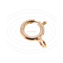 5x 14k Rose Gold Filled Round Spring Ring Clasp 8mm