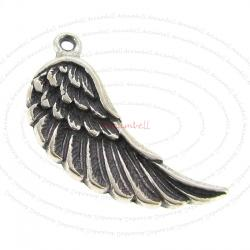 1x Sterling Silver Feather Wing Dangle Charm Pendant 23.5mm