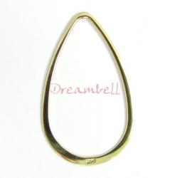 14K Real Gold plated over Sterling Silver Teardrop hoop connector