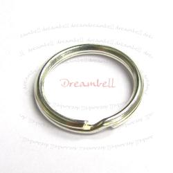 1x 925 STERLING SILVER SPLIT RING KEY CHAIN 20mm